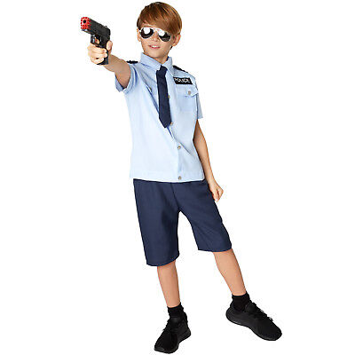 Jungenkostüm Police Boy Polizei Karneval Fasching Halloween Jungen Junge - Polizei Kostüm Boy