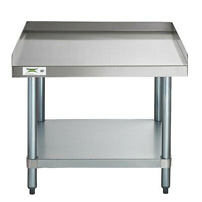 30 X 30 16-gauge Stainless Steel Top Shelf Table Stand With Undershelf