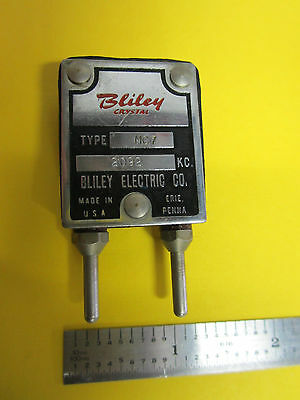 Vintage Bliley Mc7 Quartz Radio Crystal Frequency 2092 Kc