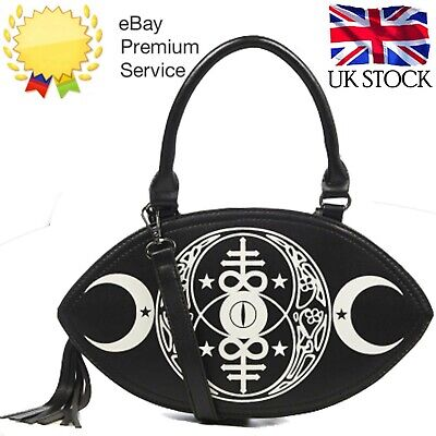 Women's New Moon Gothic Punk Rock Black Emo Rockabilly Bag By BANNED Apparel