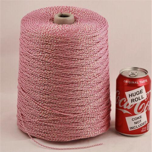 BULK LOT Pink Iridescent #50 Needloft Nylon Craft Cord - 4,000 feet! USA