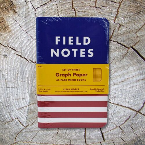 Field Notes COAL X DDC - Sealed New Three-Pack