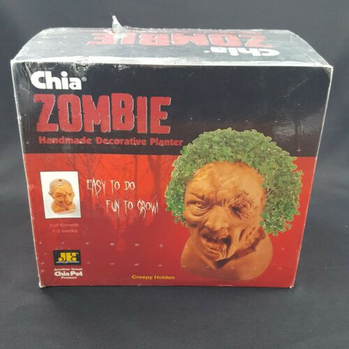 New Chia Pet Zombie Creepy Holden Handmade Decorative Planter Easy Grow