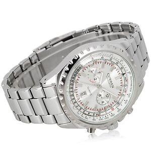 New-Silver-Quartz-Analog-Date-Dial-Luxury-Sport-Stainless-Steel-Mens-Wrist-Watch