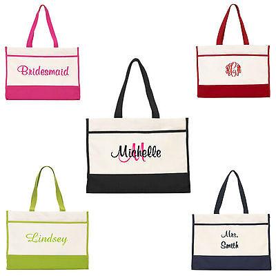Personalized Tote Bag Monogram Bride Bridal Bridesmaid Gift Wedding Teacher](Bridesmaid Tote)