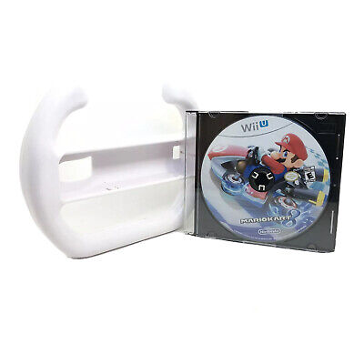 Mario Kart 8 (Nintendo Wii U, 2014) - Disc Only With Unofficial Steering Wheel