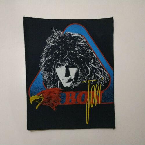 Vintage    BON JOVI   Unused  80s  BACK PATCH     heavy metal