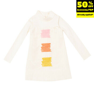 RRP €365 I PINCO PALLINO Shift Dress Size 6Y Embroidered Long Sleeve