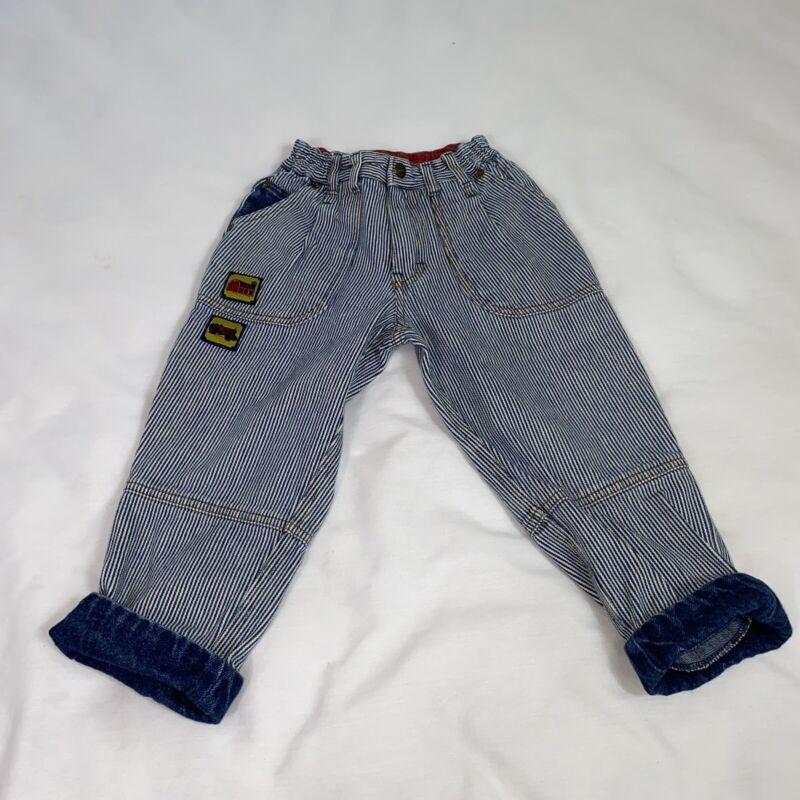 Vintage 90s Little Levis Toddler 4 Toddler Striped Blue Pants