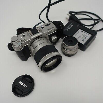 PENTAX Q10 12.4MP Digital Camera - Silver with Lenses!!