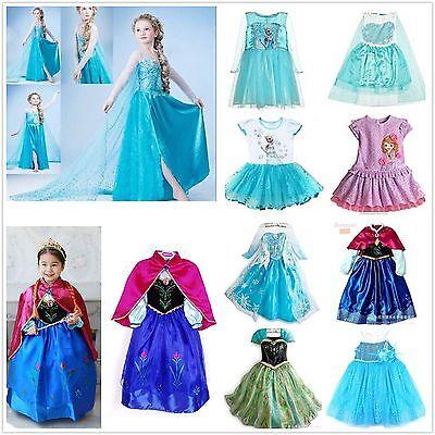 heiße gefroren prinzessin königin elsa anna cosplay - kostümparty verkleiden 2-9 (Verkleidung Elsa Kostüm)