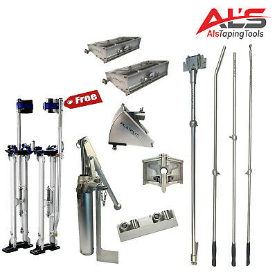 Platinum Starter Set Of Automatic Drywall Taping Tools W Free Adjustable Stilts