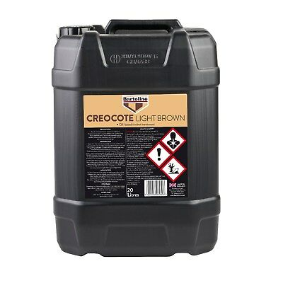 Bartoline Creocote Oil Based Timber Treatment Light Brown Creosote Sub 20 Litre