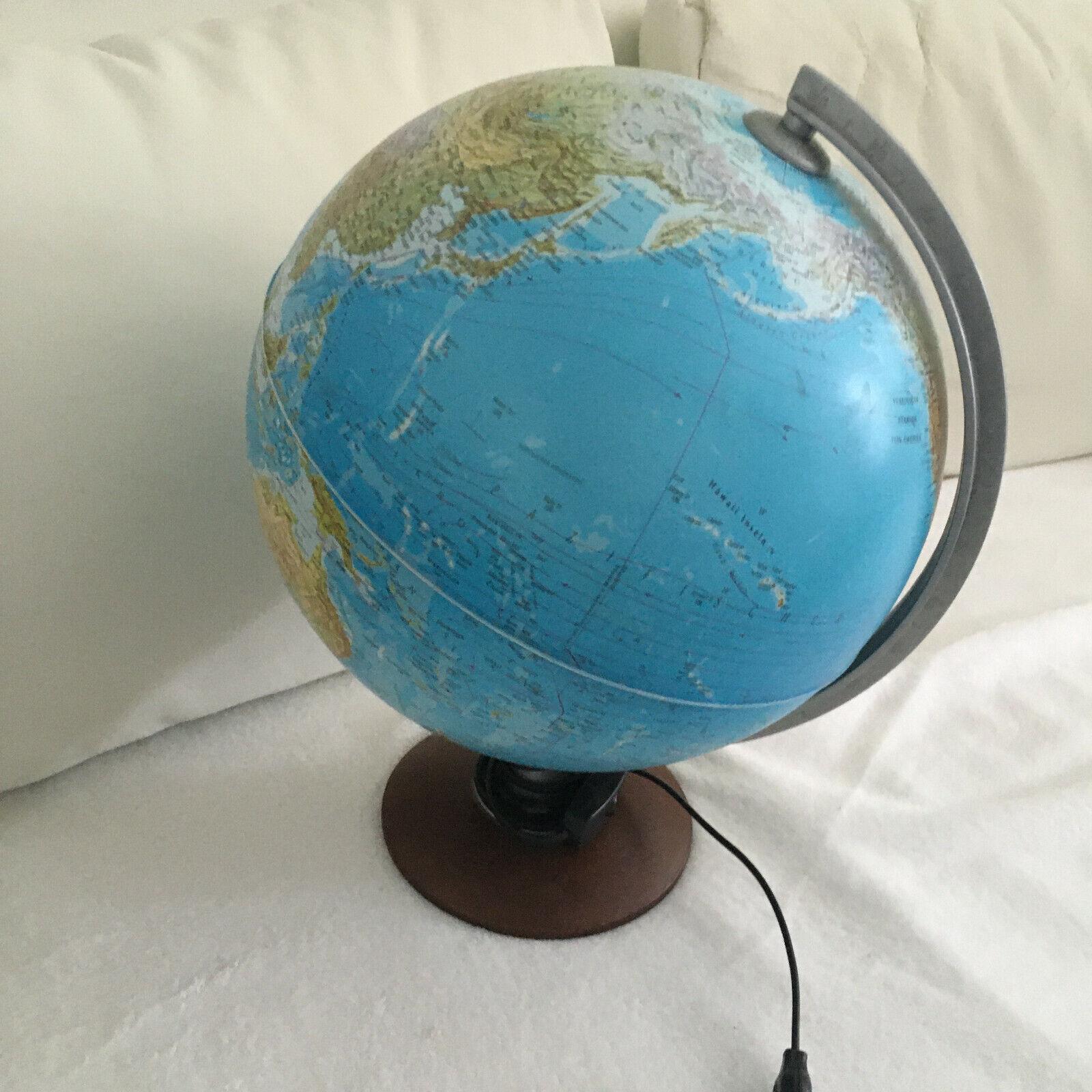 Tecnodidattica Globus Erdkugel leuchtend groß 30cm Durchmesser Leuchtglobus