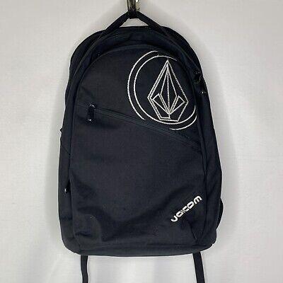 Volcom Stone Deluxe Backpack Skateboard Travel Bag Black Embroidered Logo