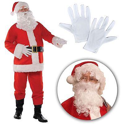 Erwachsene Klassisch Weihnachtsmann Anzug Outfit Herren Grotte Kostüm - Klassische Mann Kostüm