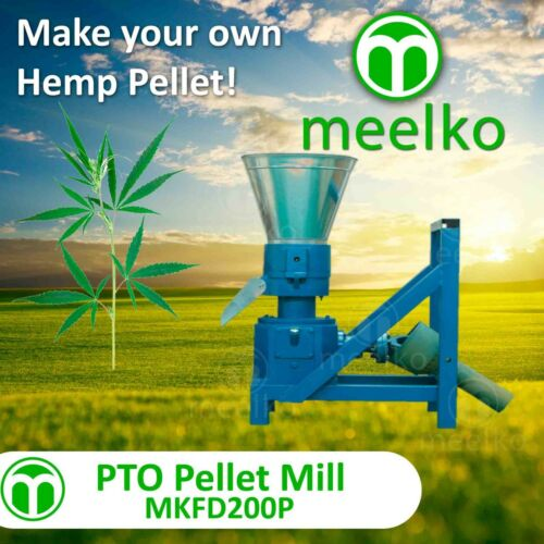"PELLET MILL PTO 7.8"" 200mm  PTO press Pellets HEMP"
