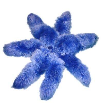Shadow Fox Fur Tails Dyed Blue Free - Dyed Blue Fox Fur