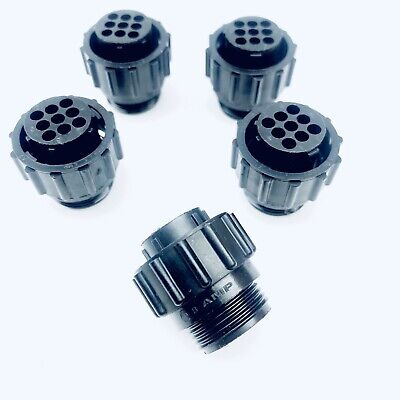 Amp Te Connectivity 206708-1 Cpc 9 Pin Circular Connector Thermoplastic 5 Pack