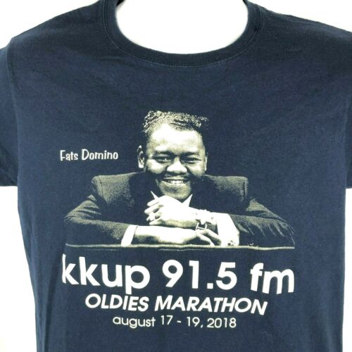 KKUP Fats Domino Oldies Marathon M T-Shirt Medium Mens 2018 Ltd Fundraiser