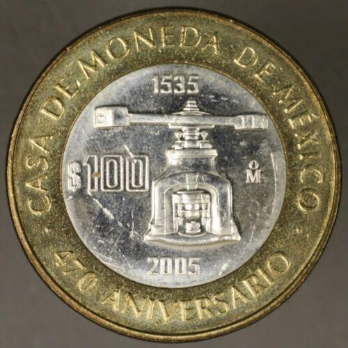 Mexico 2005 100 Peso Casa De Moneda Light Scratches BU