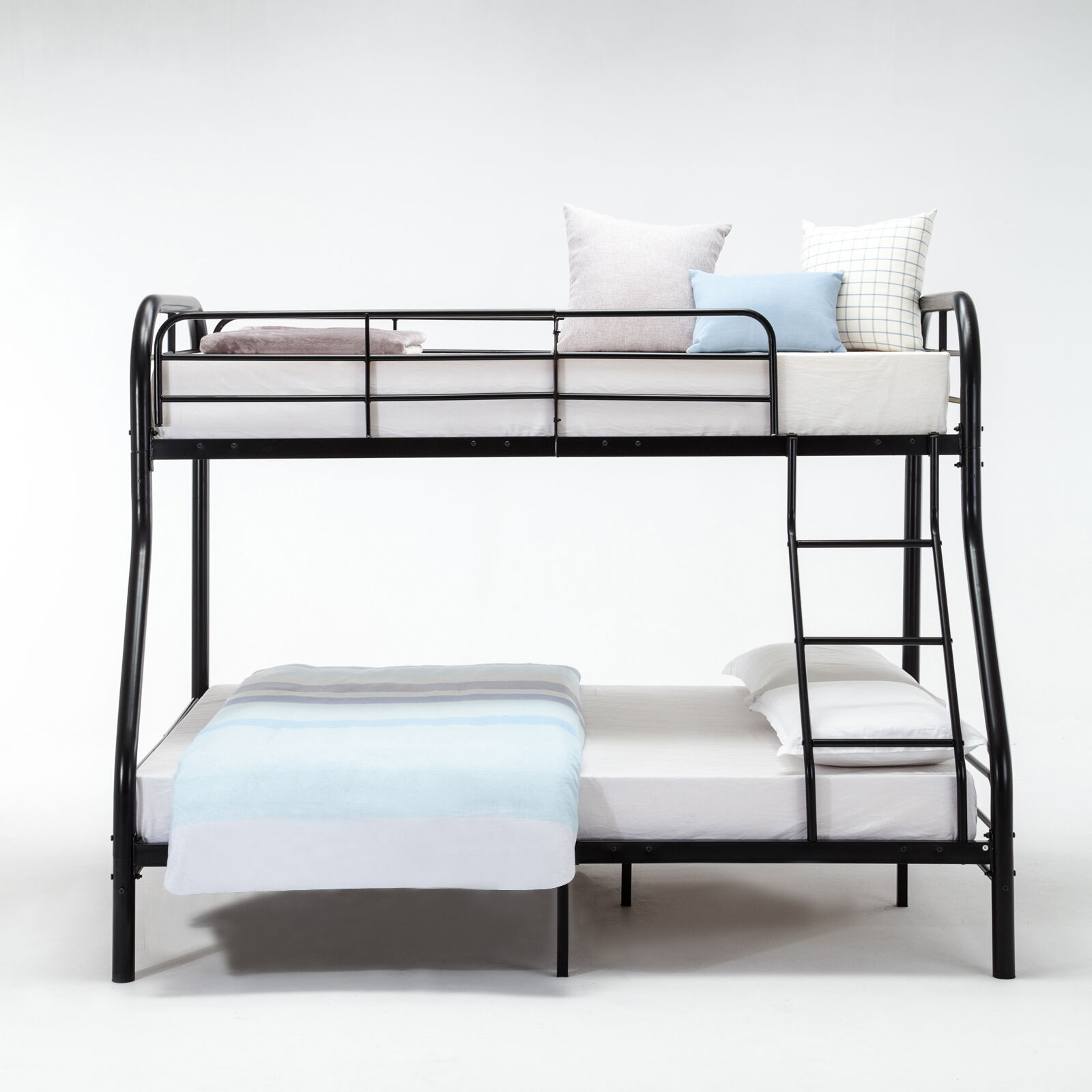 Metal Twin Over Full Bunk Beds Framew Ladder Adult Kid