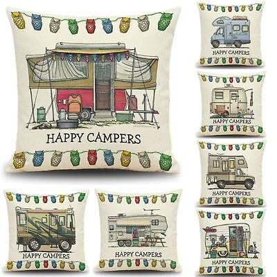Camper Decorating Ideas (UK HAPPY CAMPERS CUSHION COVER 17