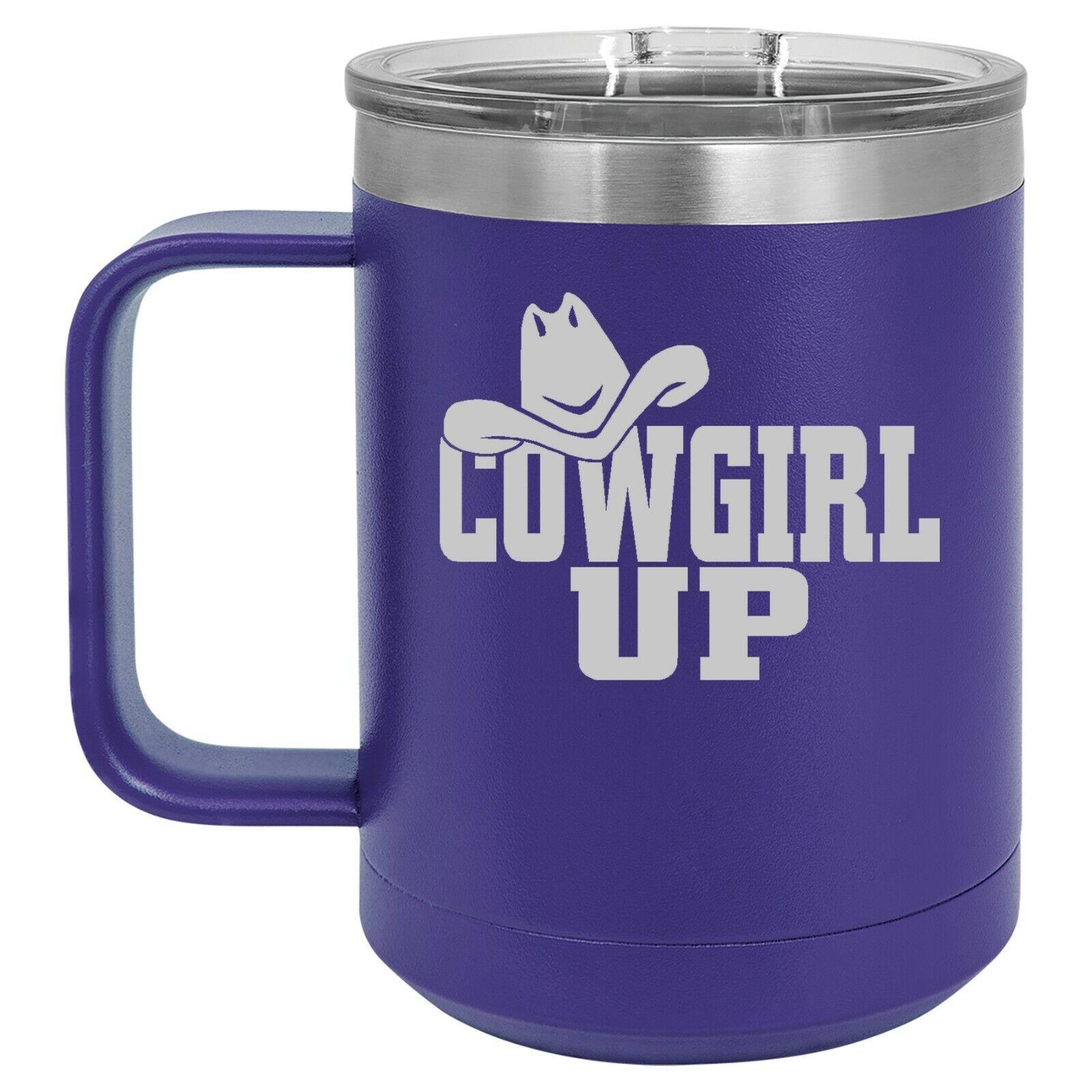 15oz Tumbler Coffee Mug Handle & Lid Travel Cup Insulated Co