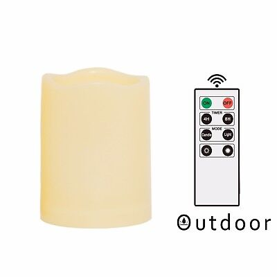 """Outdoor Waterproof Flameless LED Battery Operated Candles w/ Remote 3""""x4"""" 1PCS ()"""