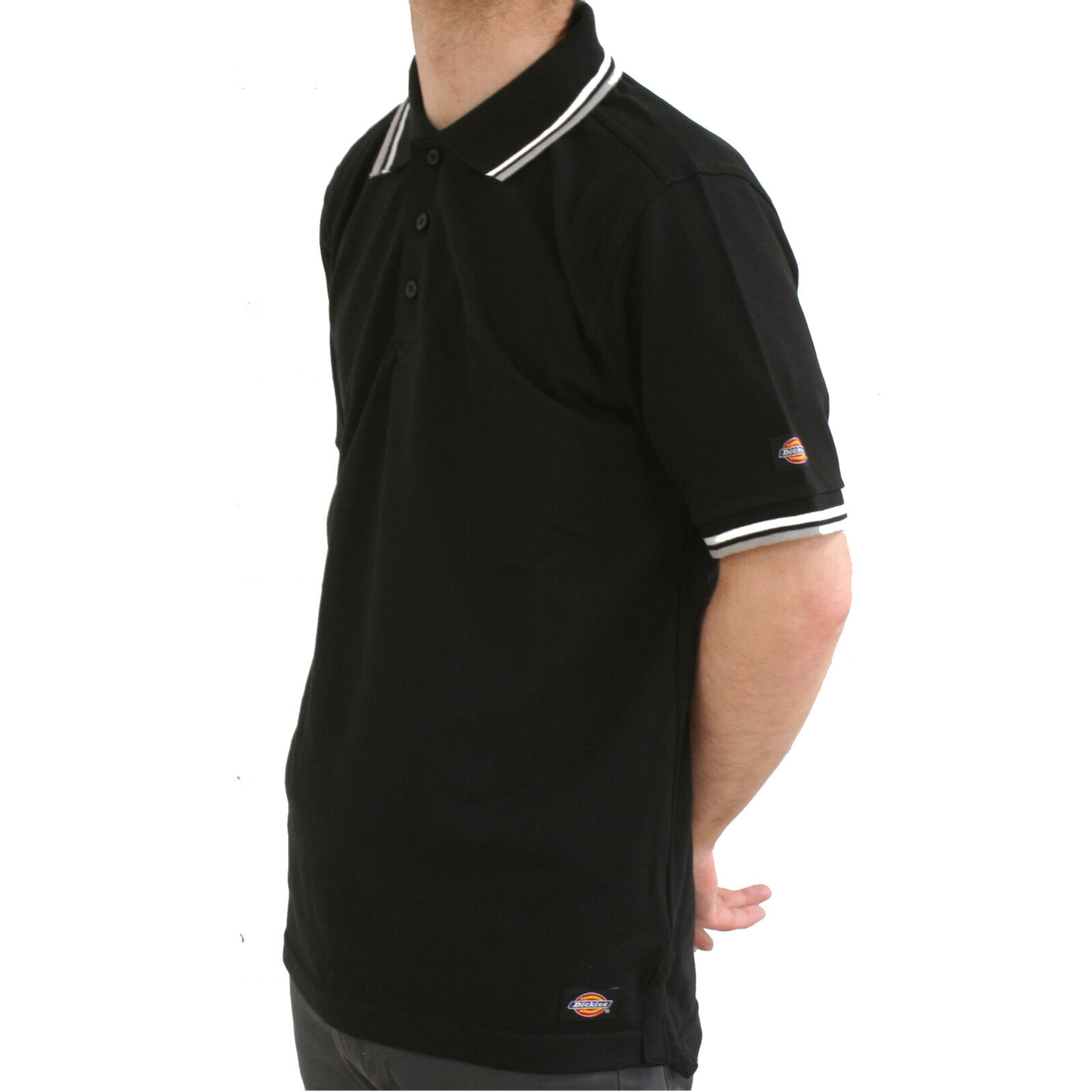 Dickies Riverton Polo Shirt Mens Premium Colour Tip Work T-Shirt SH2001