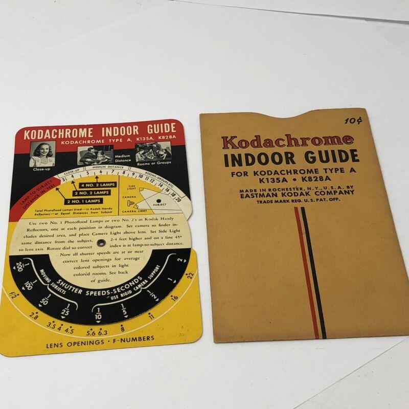 Vintage Kodak Kodachrome Indoor Guide 1950s Photography Eastman Kodak Company NY