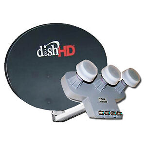 DISH Network Satellite Antenna 1000.2 Inegrated LNBf Built-in switch Upgrade HD