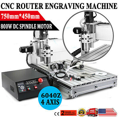 4 Axis Usb Cnc Router Engraver Engraving Cutter 6040z Artwork Printing Drilling