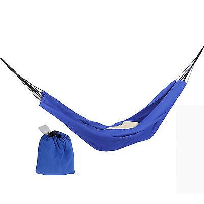 Camping Reise Hängematte Reisehängematte Silk Fallschirmseide Blau bis 300Kg