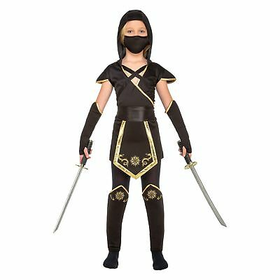 My Other Me–Ninja Costume for Girls, Black (viving Costumes) 7-9 años Black - Girl Ninja Costumes For Kids
