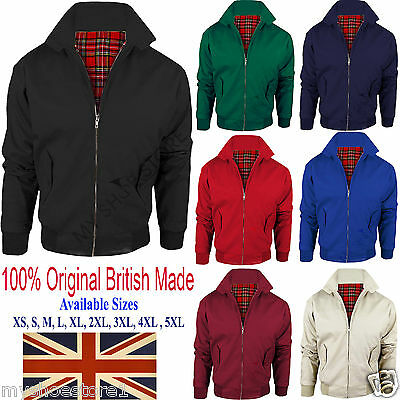HARRINGTON JACKET MENS CLASSIC RETRO SCOOTER 1970'S VINTAGE BOMBER MOD COAT (Mens Scooter)