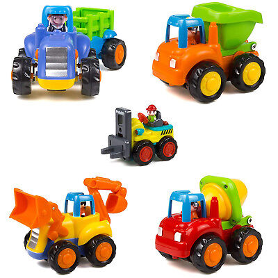 5 Set Baby Toddlers Dump Truck Toy Boys Kids Children Construction Play Vehicle - Construction Toy Set