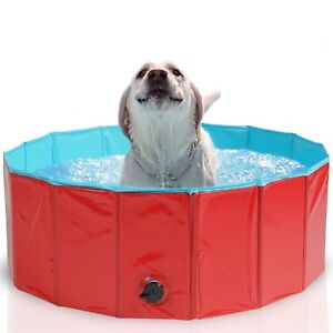 Genial Dog Pool Bath Cat Puppy Pet Outdoor Indoor Portable Foldable Durable Sturdy