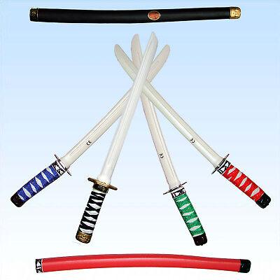 Ninjaschwert 51cm für Kostüm Ninja Mittelalter Ritter Schwert 4 Farben Säbel