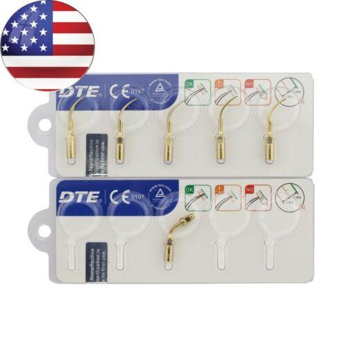 Woodpecker DTE Ultrasonic Scaler Tips Kit Satelec GD1T GD2T PD1T ED1T Golden USA