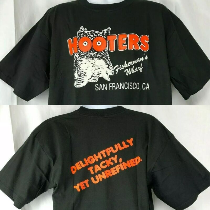 Hooters San Francisco Closed T-Shirt XL Owl Tacky Yet Unrefined Fishermans Wharf