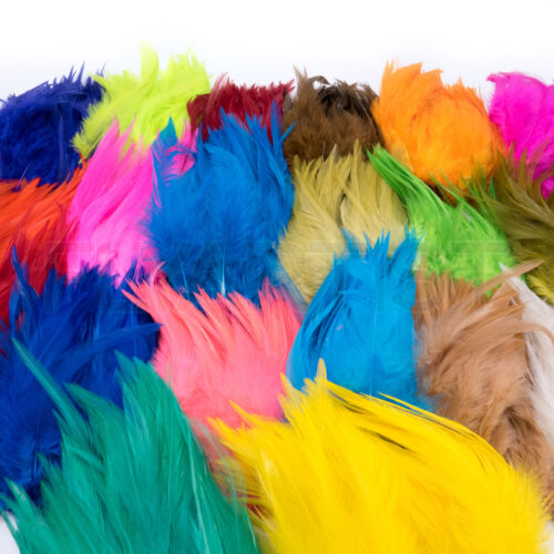 """STRUNG CHINESE SADDLE HACKLE - Hareline Fly Tying Feathers 5-7"""" Dyed Colors NEW!"""