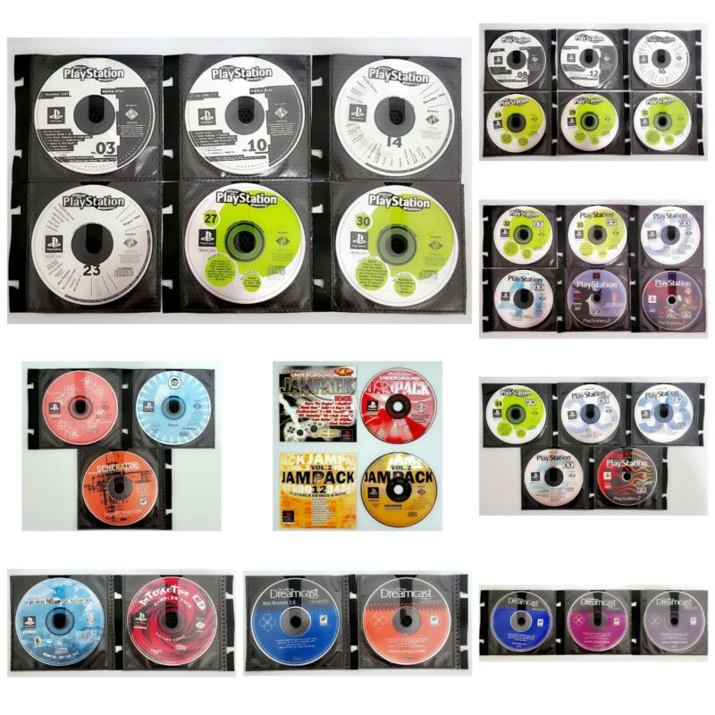 35 Lot RARE Demo Discs 🎮 Official US Playstation 1 & 2 Underground JP Dreamcast