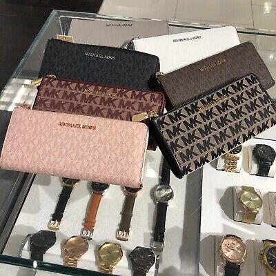 Michael Kors Women Lady Long wallet Leather Credit Card Holder Clutch Purse Bag