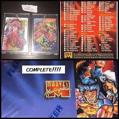 1995 Marvel Masterpieces - Complete Set / MIRAGE / EMOTION / Holoflash / Canvas