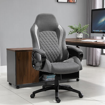 Vinsetto Ergonomic Office Chair Adjust Height Fabric Rocker Home Desk Chair