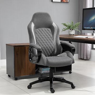 Vinsetto Ergonomic Office Chair Adjust Height Fabric Rocker Home Desk Chair