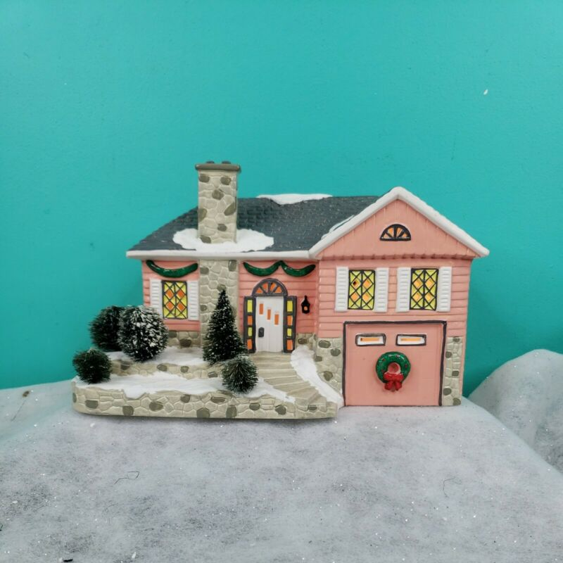 Vintage Department 56 SNOW VILLAGE 1990 Morningside House Lighted 5152-7