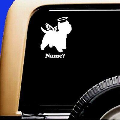 Dog Memorial Westie West Highland Terrier Angel Decal Sticker RV Truck  - CA$6.00
