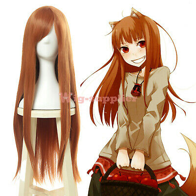 Spice and Wolf Holo Raphtalia Cosplay Wig Orange Long Straight Hair Women - Wolf Wig